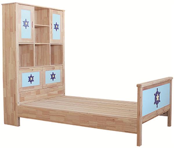 实木抽屉床