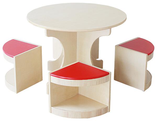 儿童实木学习圆桌餐桌游戏桌
