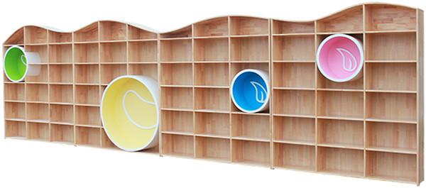 多功能置地儿童实木图书室