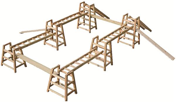 碳化木攀爬梯定制