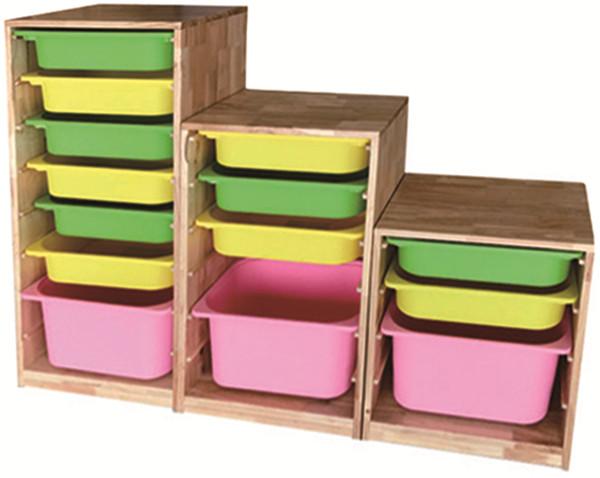 儿童玩具收纳架实木柜子