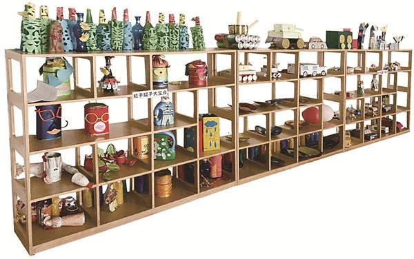 定制幼儿园大型组合书柜